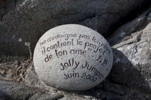 Stone with inscriptions